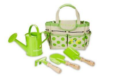 Gartenbeutel mit Geräten Set Gartentasche Gartengeräte für Kinder Holz EverEarth