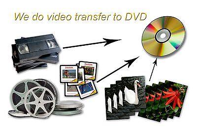 100 FT Regular 8mm, Super 8, 16mm movie film transfer to DVD or High Definition
