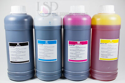 4x500ml Bulk refill ink for HP Canon Epson Lexmark Dell Brother inkjet printer