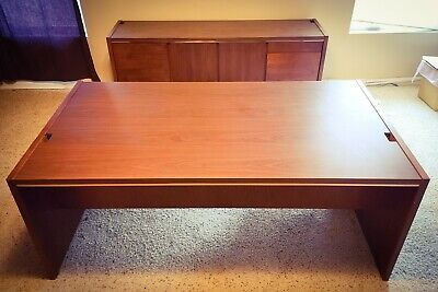 Kimball Mid-century Modern Cherry Desk Credenza 5 Incredible Set Solid
