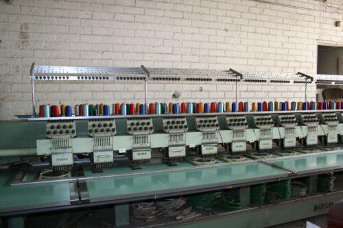 Inderstrial Embroidery Machine TAJIMA 9 Needles 18 Heads