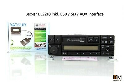 Radio Mercedes-Benz special inkl. USB SD AUX MP3 Interface BE2210 W124 W140 W202