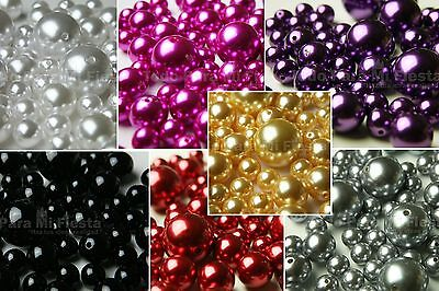 76 pcs Vase Filler Plastic Pearl Beads Table Scatters Decorations - Pearl Vase Fillers
