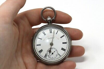 Antique Victorian C1898 Sterling Silver J Graves Key Wind Pocket Watch A/F 133g