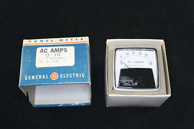 Vintage Ge 749 Panel Meter General Electric The Big Look A.c. Amperes 0-30 Amps