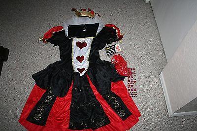 DAZZLING DARK QUEEN ALICE IN WONDERLAND SEXY SHORT DRESS COSTUME SIZE XL EXTRAS - Alice In Wonderland Dark Costume