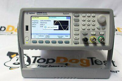 Hp Agilent Keysight 33522a Function Arbitrary Waveform Generator 30mhz Warranty