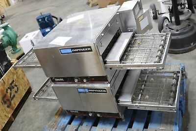 Lincoln Impinger 1302 Commercial Electric Countertop Conveyor Oven Pair