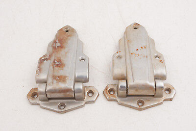 Art Deco Trunk Hinges Possibly Car Rat Rod (RS2) Lightweight Nickel Chrome Brass