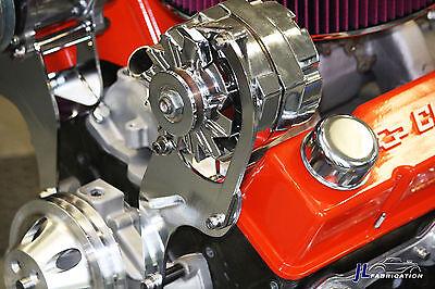 SBC Chevy Chrome Top High Mount Alternator Bracket Short Water Pump SWP Driver
