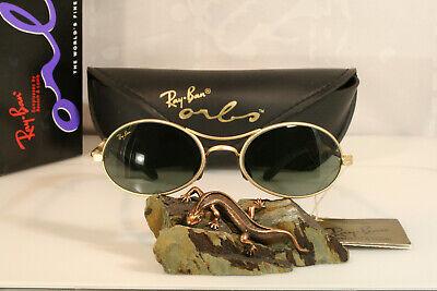 Original BL vintage Ray-Ban USA Bausch & Lomb Orbs Ellipse Arista Gold w2177