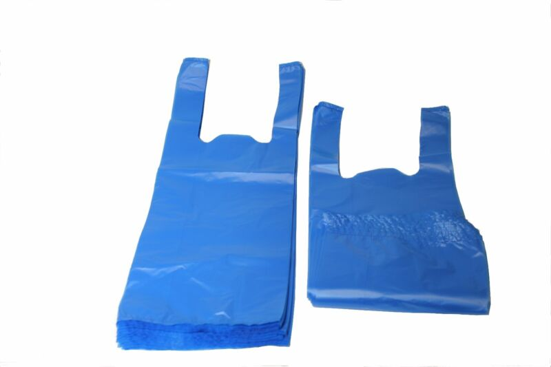 500 BLUE DOG DOGGIE PICKUP POOP CLEAN UP WASTE BAGS /HANDLES MADE IN USA
