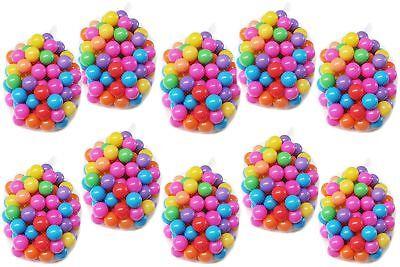 Bälle Bällebad100-1000 Stück ø 5,5 cm bunte verschieden Farben Clamaro B-Ware ()