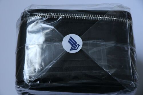 Singapore Airlines Lalique First Class Black Amenity Kit Men's Male Sealed New