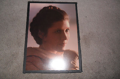 Vintage Carrie Fisher Rip Star Wars Theater Princess Leia Cardboard Poster 1980