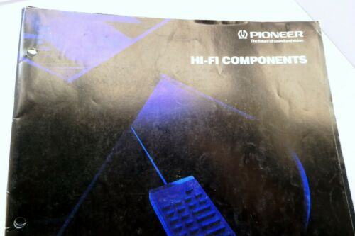 Pioneer Hi-Fi Components CATALOG Brochure Advertising Sales VSX receivers Audio