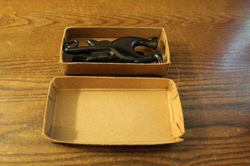 Vintage Black Cat Door Knocker in Original Box