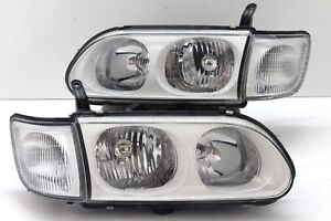 JDM Mitsubishi Delica L400 Right Face-Lifted White Housing Headlight 1 Pairs OEM