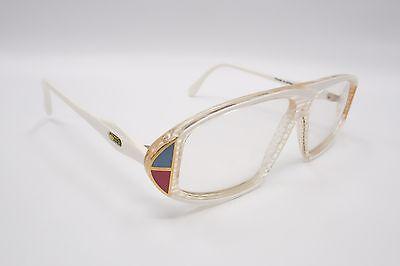 NOS Vintage Cazal 187 Eyeglasses Frames 288 White Pink & Blue 56[]12-130 3877