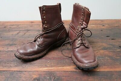 White's Boots Hathorn Spokane Leather Work Logger Packer Mens Size 9 Vibram
