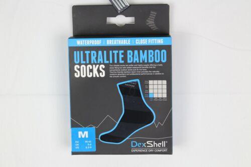 DexShell Ultralite Bamboo Waterproof Breathable Socks Stripe Grey DS643G