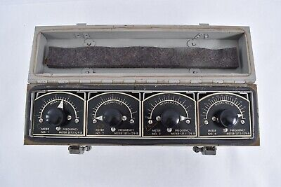 Vintage Portable Hickok Military I-129-b Absorption Frequency Meter Set