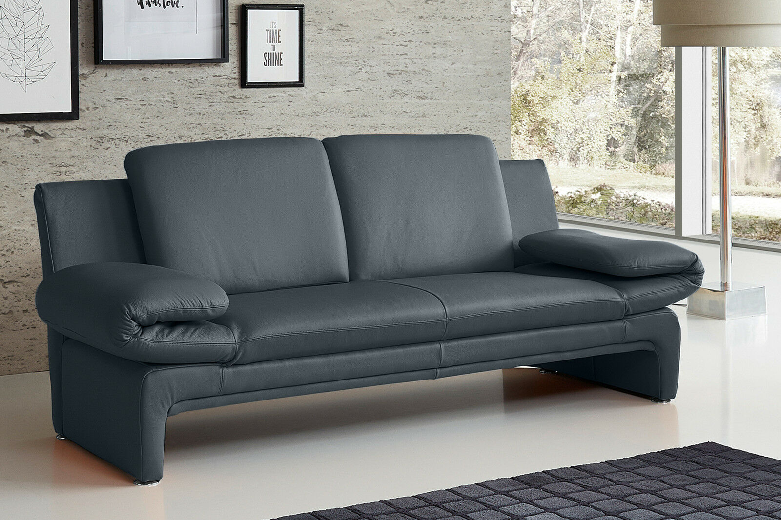 echt dick leder sofa couch garnitur funktionssofa capri 2 sitzer oder 3er neu eur. Black Bedroom Furniture Sets. Home Design Ideas