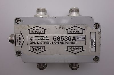 Symmetricom 58536a Gps 1x4 4-way Active Antenna Signal Splitter Divider N Female