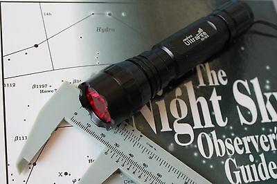 Night Vision Red Flashlight Lens Filter- 25.0mm- Thin- for Ultrafire 502B- NEW