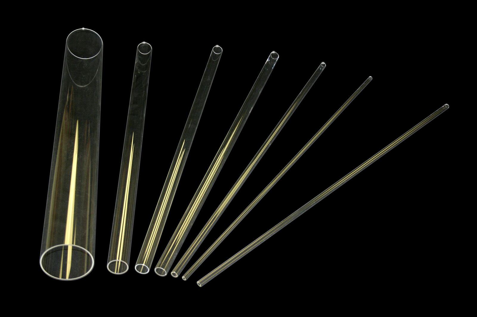 Clear fused quartz tube, OD15mm*ID13mm*L1219.2mm, Item# FQ-T