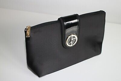Giorgio Armani Black Clutch / Make Up Cosmetics Bag