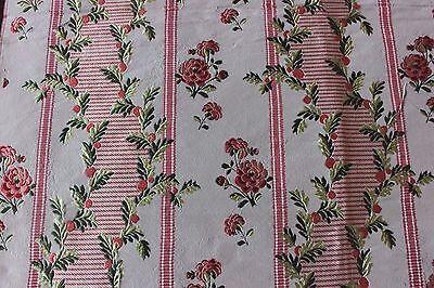 "Antique 19th French Silk Taffeta Brocade ""HAMOT"" Lyon Fabric Sample~18thC Loom"
