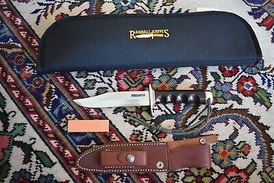 "RANDALL MADE KNIVES KNIFE 12-6"" SPORTSMANS BOWIE SHEATH CASE 7 OPTIONS BURGUNDY+"