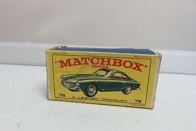 Vintage Lesney Matchbox #75 Ferrari Berlinetta Car Empty Original Box Only