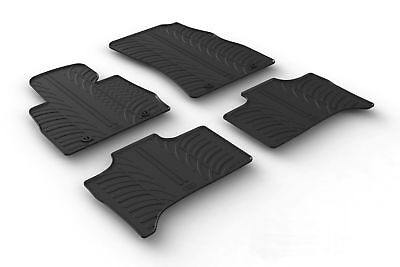 All Weather Rubber Floor Mats fits 2017 2018 BMW 5 Series 4 Piece Set   Black