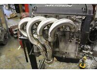 Small Block Chevy 350//383 Ram Horn Header 2.5/'/' Collector Raw BPH-5001R