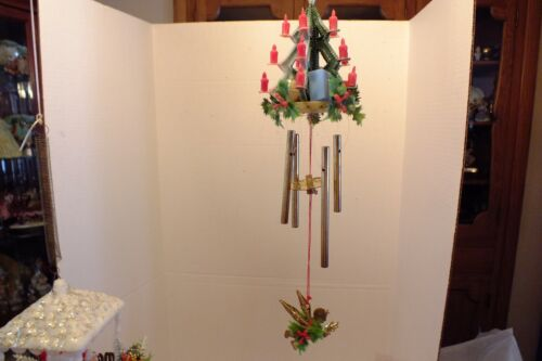 4 vintage Christmas wind chimes