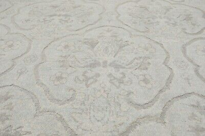 10 X 14 Persian Rug - 10' x 14' Stone wash Pakistani Peshawar Hand Knotted Area Rug 100% Wool Gray