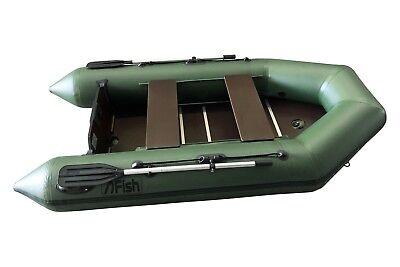 FISH 270 grün Schlauchboot mit Siebdruckplattenboden und Luftkiel, 1100 Dtex