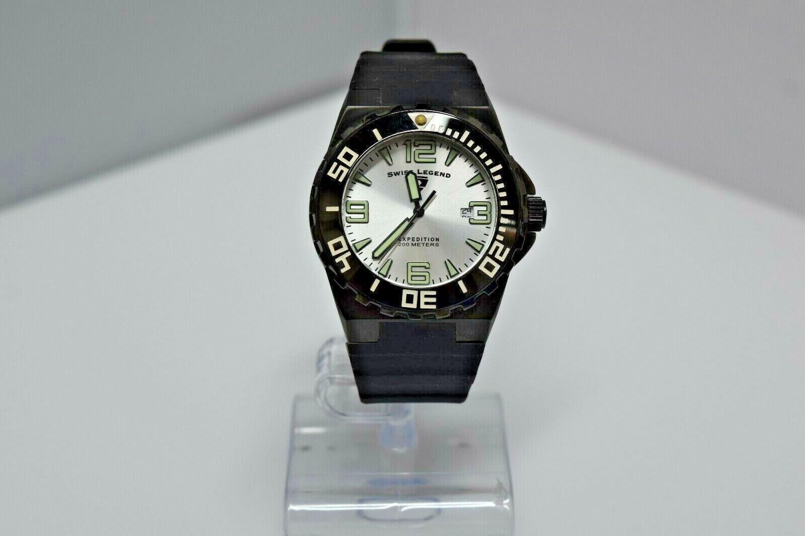 Swiss Legend Expedition Sapphitek 48mm 200M SL-10008 Watch Black/Black