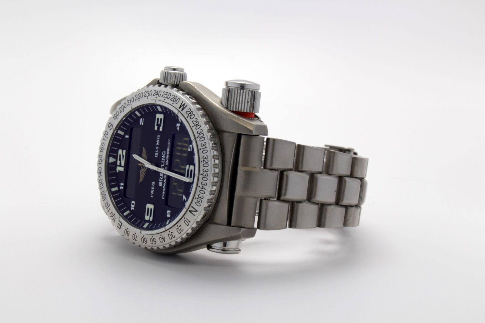 Breitling Professional Emergency Titanium Black Dial E76321 43mm Superquartz