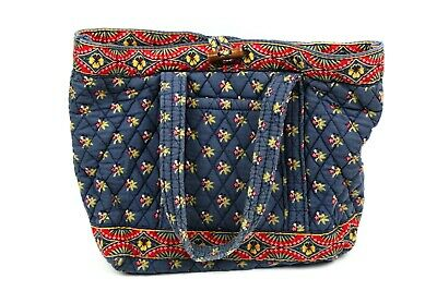 Vera Bradley Small Toggle Tote in Emily - Shoulder Bag - Purse - Floral - Blue