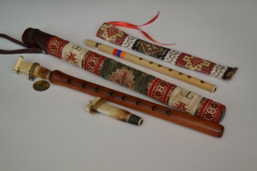 Armenian professional apricot duduk 2 reeds + national case + gift flute