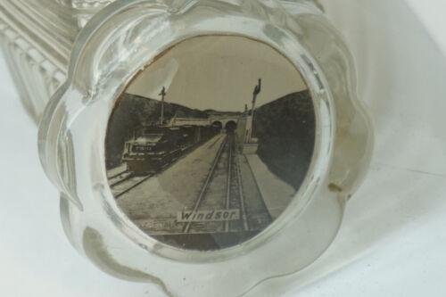 MICHIGAN CENTRAL RAILROAD RAILWAY TUNNEL PAPERWEIGHT TRAIN WINDSOR CANADA GLASS
