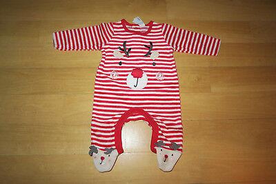 2 Christmas Nicki Schlafanzug neu Elch rot  Weihnachten (Baby Christmas Anzug)