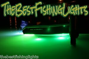 Underwater submersible 450 led green night fishing light for Night fishing lights for boats