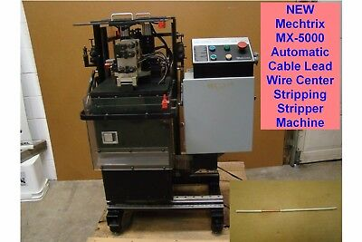 New Mechtrix Mx-5000 Automatic Cable Lead Wire Center Stripping Stripper Machine