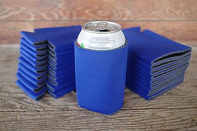Beer Huggies (LOT of 25 Royal BLUE Can Blank Beer Soda Coolers 12oz Printable Huggies)