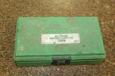 Greenlee 735bb Knockout Punch Set Missing Parts
