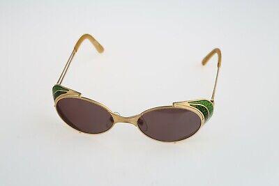Jean Paul Gaultier 56-7109, 90s Vintage steampunk side shields oval sunglasses